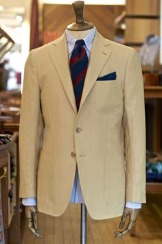 This ensemble from Drakes would look awesome with some lighter denim for summer.
