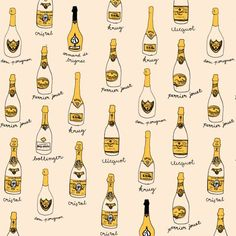 Champagne illustration by Allison Cornu champagne