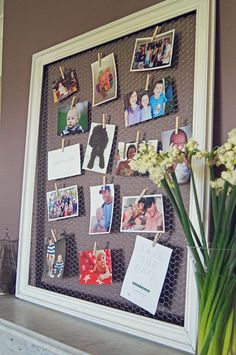 DIY: Upcycled Frame Photo Board