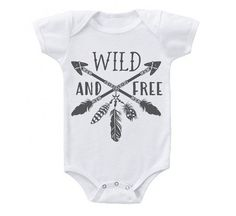 Wild And Free // Feather Arrow // Baby Onesie // baby shower, tribal onesie, baby, newborn, baby girl, - Cute baby clothes -