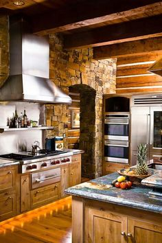I like the back-lit kickboards under the cabinets. Plus, nice picture of wood floors with wood cabinets