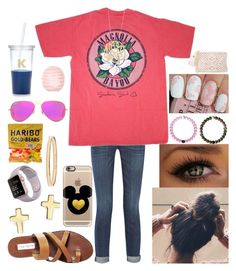 """Set 1: meet the teacher"" by xo-arissa-xo ❤ liked on Polyvore featuring Kate Spade, Current/Elliott, Steve Madden, Bloomingdale's, Casetify, Ginette NY, Ray-Ban, Topshop, Lilly Pulitzer and arissacreations"
