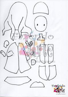 Fazendo Arte by Ágatha Kozakevic: Molde Gorjuss by Ágatha Kozakevic