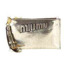 Miu Miu Embellished Leather Clutch