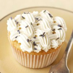 Lavender-Honey Cupcakes From Better Homes and Gardens, ideas and improvement projects for your home and garden plus recipes and entertaining ideas.
