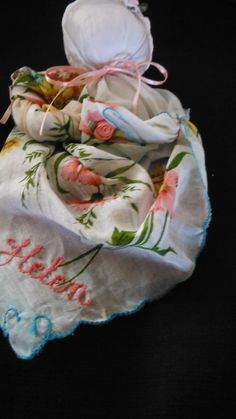 Mothers Day Embroided Helen Aunt Helen by VictorianShabbyShop.com