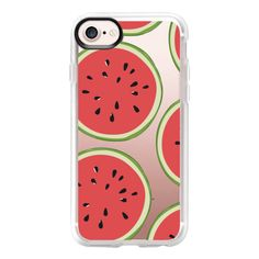 Watermelon pattern - iPhone 7 Case And Cover (715 MXN) ❤ liked on Polyvore featuring accessories, tech accessories, phone cases, phone cover, iphone case, clear iphone case, iphone cover case, iphone cases and apple iphone case