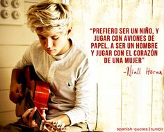 Niall + Spanish = DEAD AND I LOVE the quote!!!!!❤