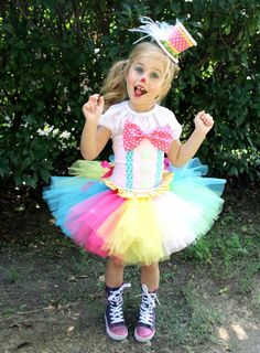 Adorable Clown Tutu Outfit Costume Circus by PinkHippoCouture