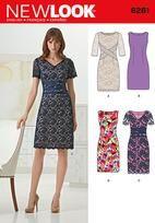 Misses' Dress with Neckline Variations