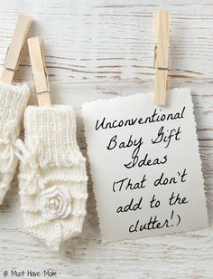 Unconventional Baby Gifts That Don't Add To The Clutter! Awesome baby gift ideas that are out of the box and perfect for expecting or new moms.