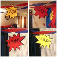Superhero party decor ideas make our own using construction paper