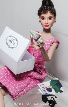 Audrey Hepburn Barbie shopping for new Prada shoes | The House of Beccaria