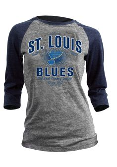 St. Louis Blues Women's Grey and Navy 3/4 Sleeve Shirt http://www.rallyhouse.com/nhl/w/st-louis-blues/a/t-shirts/b/womens-t-shirts/c/long-sleeve?utm_source=pinterest&utm_medium=social&utm_campaign=Pinterest-STLBlues $27.99