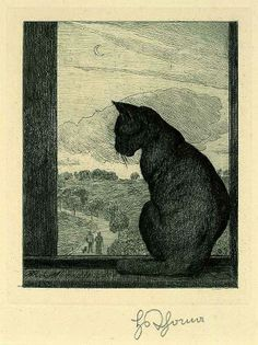 """The Cat"" by Hans Thoma"