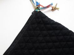 handmade, zipper Bag use as a purse, make up bag, etc.  materials: vintage fabric, thread, buttons, metal tag, glass bird, ribbon, zipper and a lot of imagination. photo 3/4