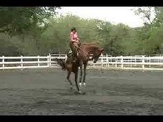 Bucking Horse with Female Rider