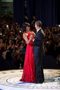 President Barack Obama and First Lady Michelle Obama, what a beautiful couple! Click through for a bunch more photos.