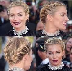 Saç Örgü Short Hair Up, Braids For Short Hair, Upstyles For Short Hair, French Braid Short Hair, French Braids, Fancy Hairstyles, Red Carpet Hairstyles, Bob Hairstyles, Braided Hairstyles