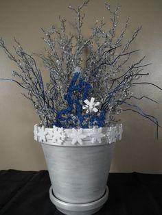 Winter Snow Table Centerpiece