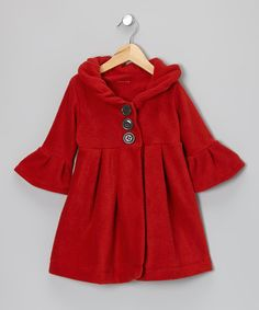 Take a look at this Red Dress Coat - Toddler & Girls on zulily today!