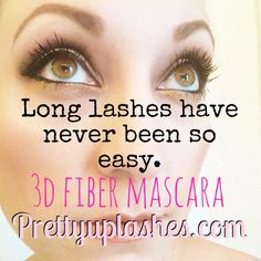Long lashes have never been so easy! 3d fiber lashes make YOUR lashes incredible! Available at prettyuplashes.com