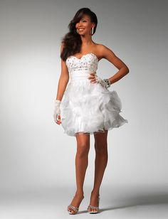 White dress 1503 | White dresses | White short dress | Promgirl.net