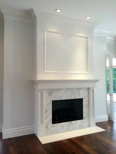 Unbelievable white painted fireplace mantels only in interioropedia design – Farmhouse Fireplace Mantels Painted Fireplace Mantels, Paint Fireplace, Brick Fireplace Makeover, Farmhouse Fireplace, Fireplace Remodel, Living Room With Fireplace, Fireplace Surrounds, Fireplace Design, Fireplace Ideas