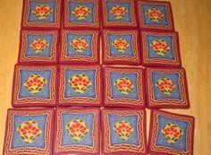 Creator's Joy: Tibetan lotus flower motif in polymer clay millefiori cane