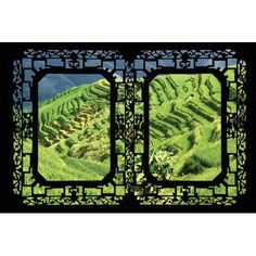 """World Menagerie China - Window View VI Photographic Print on Wrapped Canvas Size: 18"""" H x 26"""" W x 1.5"""" D"""