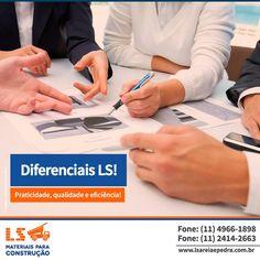 Orçamentos práticos, entrega eficiente, equipe treinada, valores compatíveis à realidade do mercado. Esses são alguns dos diferenciais da LS.