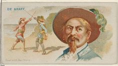 "De Graaf, Duel with Van Horn, from the ""Pirates of the Spanish Main"" series (N19), for Allen & Ginter Brand Cigarettes, c1888."