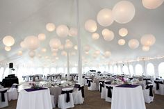 Wedding Reception Tent Decorations - Pictures and Ideas
