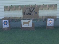 Target shooting practice at our son's hunting theme birthday party.
