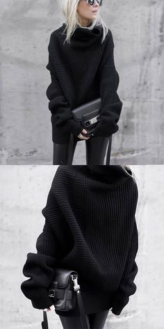 Black Sweater Fashion trends sweaters for women, trend co. Black Sweater Fashion trends sweaters for women, trend colors and comfy sweater you will love, sp. Black Sweaters, Sweaters For Women, Oversized Sweaters, Stylish Outfits, Cute Outfits, Cute Fashion, Fashion Outfits, Fashion Sale, Fashion Women