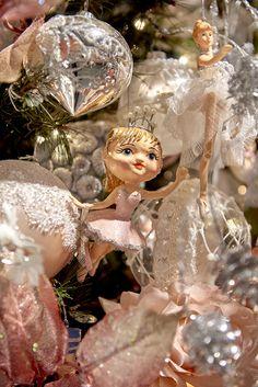 Heart by Goodwill ballerina ornament on a ballet theme Christmas tree for Nutcracker Ballet Noel