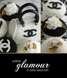 incredible cupcakes - Google Search Chanel Cupcakes, Think Small, Cupcake Cookies, Wedgwood, Cake Decorating, Good Food, Sweets, The Incredibles, Glamour