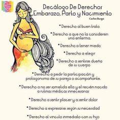 Decálogo de derechos del embarazo, parto y nacimiento