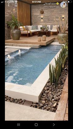 Backyard Pool Designs, Small Pools, Swimming Pools Backyard, Small Backyard Landscaping, Backyard Ideas, Small Swimming Pools, Patio Ideas, Small Pool Design, Pool Houses