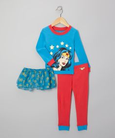 Blue & Red Wonder Woman Pajama Set - Infant & Toddler | Daily deals for moms, babies and kids