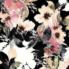 #patternbankdesigner » https://patternbank.com/mervearuta – Hand drawn & painted watercolor floral design IG: @ventusdesignstudio