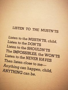 My favorite Shel Silverstein poem to read to MCA