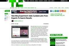 http://techcrunch.com/2013/06/20/new-bing-experiment-adds-curated-lists-from-experts-to-search-results/ ...   #Indiegogo #fundraising http://igg.me/at/tn5/