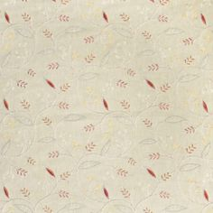 S3103 Meadow Orange Fabric, Pink Fabric, Floral Fabric, Greenhouse Fabrics, Modern Spaces, Natural World, Color, Colour, Colors