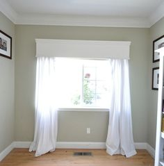 Window Seat - it starts with a blank slate and some over the fridge cabinets.