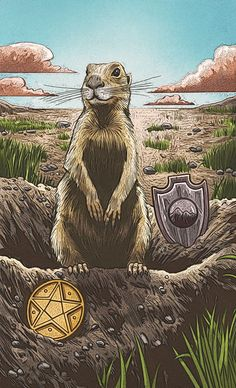 Knight of Pentacles - Animal Totem Tarot