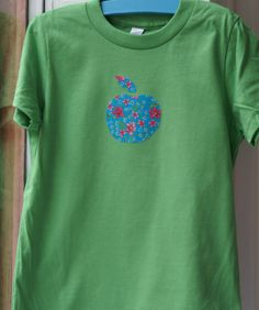DIY sewing T-Shirt with apple