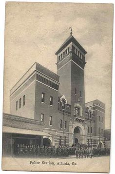 The late 19th-century Moorish-Gothic fantasy of the old Atlanta Police Station building, down on Decatur Street.