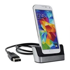 BrankBass Dual Sync Desktop Charger Cradle with Battery Charger For Samsung Galaxy S5