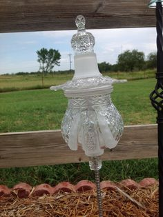 Glass Garden Totem... This was a neat liqueur bottle & I think it made a nice totem